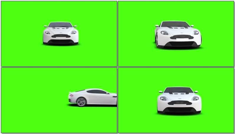 绿屏抠像白色小轿车.jpg