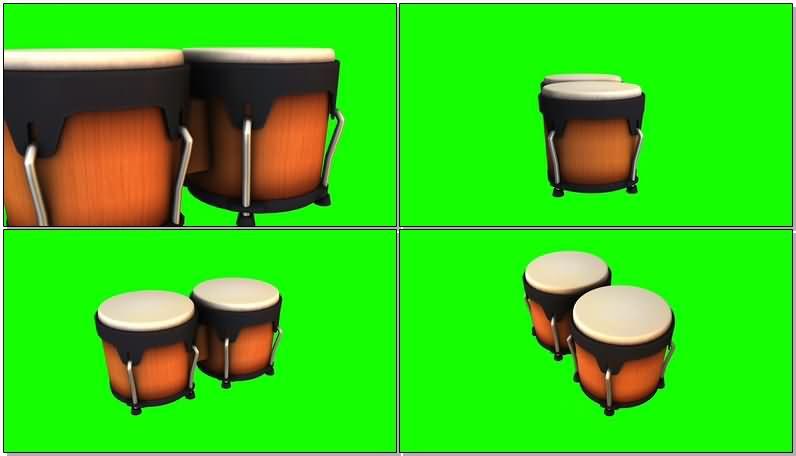 绿屏抠像架子鼓视频素材