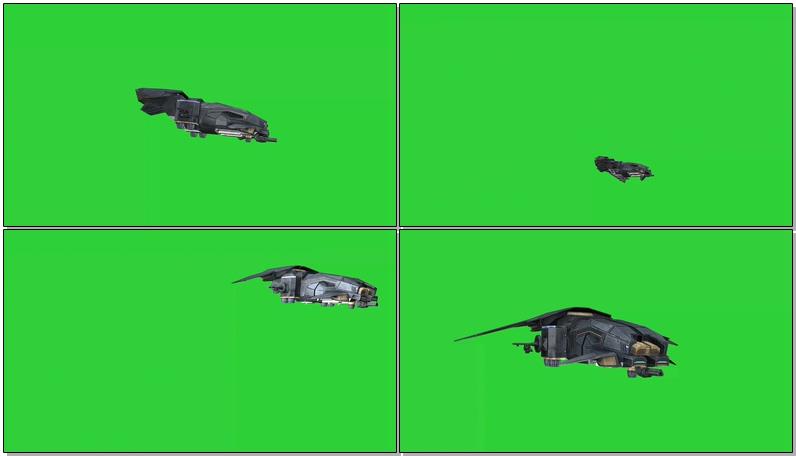 绿屏抠像太空飞船飞行器视频素材