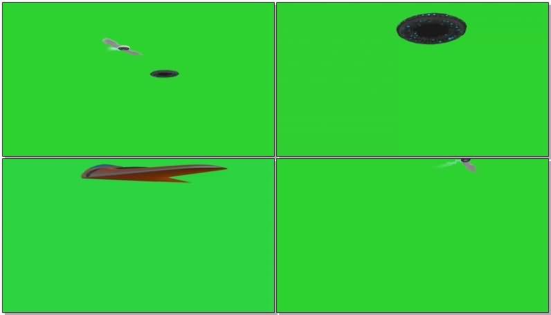 绿屏抠像外星UFO飞碟视频素材