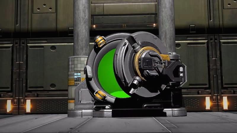 绿屏抠像超级加厚保险门视频素材