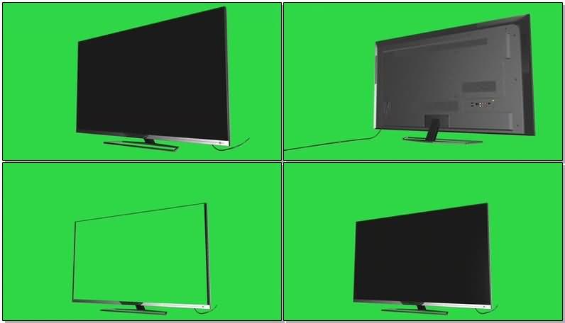 绿屏抠像液晶电视视频素材