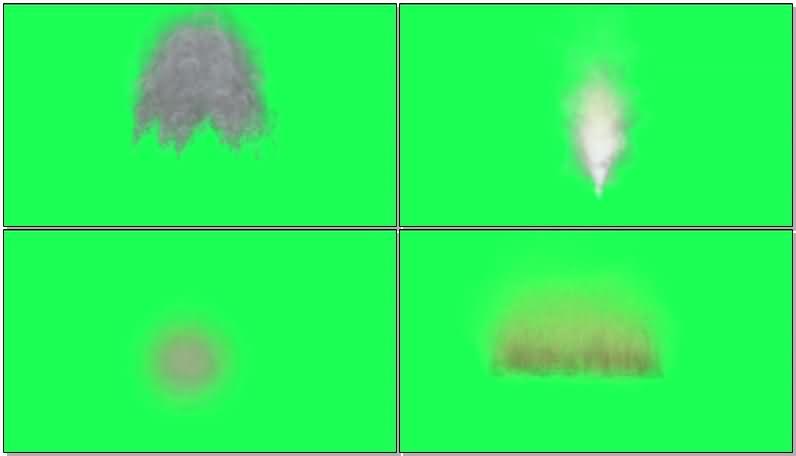 绿屏抠像爆炸烟雾视频素材