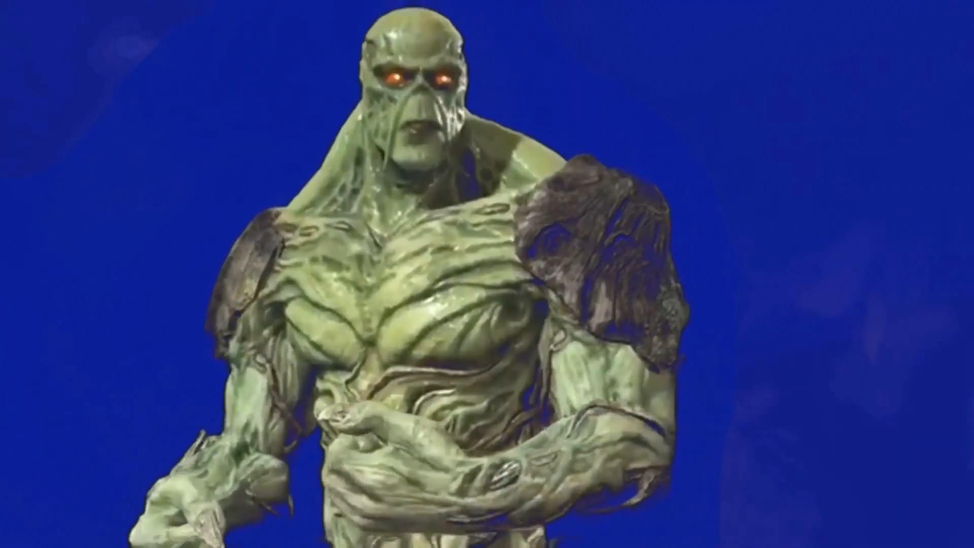 绿屏抠像DC人物沼泽怪物视频素材