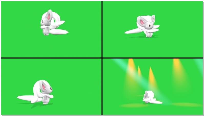绿屏抠像口袋妖怪奇诺栗鼠视频素材