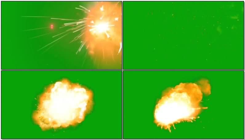 绿屏抠像炮竹爆炸视频素材