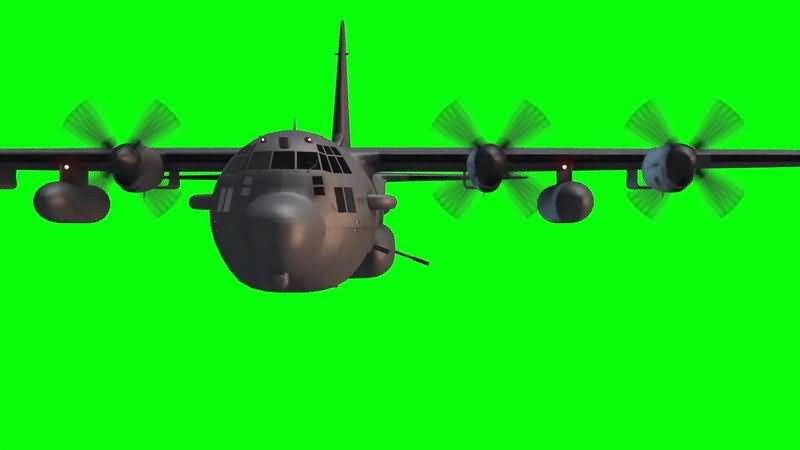 绿屏抠像大型客机视频素材