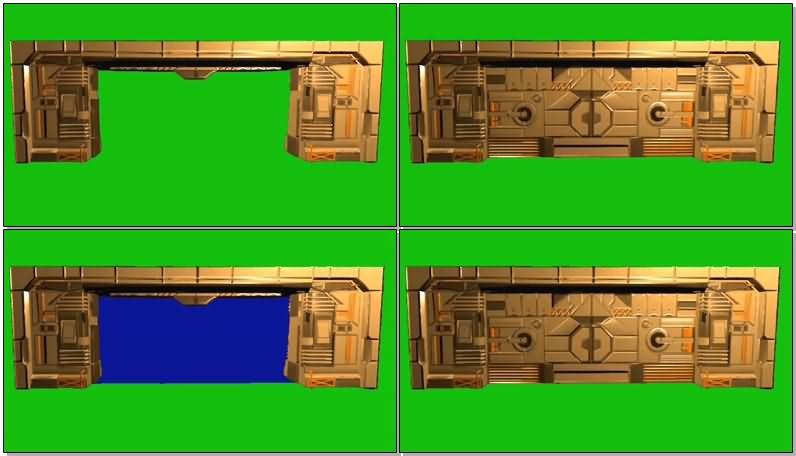 绿屏抠像高科技防盗门视频素材