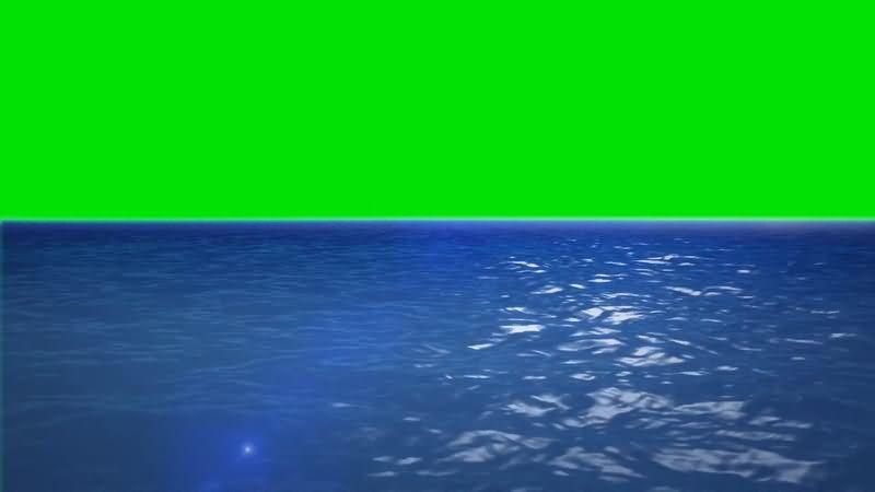 绿屏抠像蓝色的大海视频素材