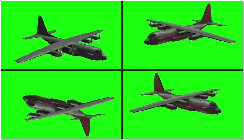 绿屏抠像运输飞机视频素材