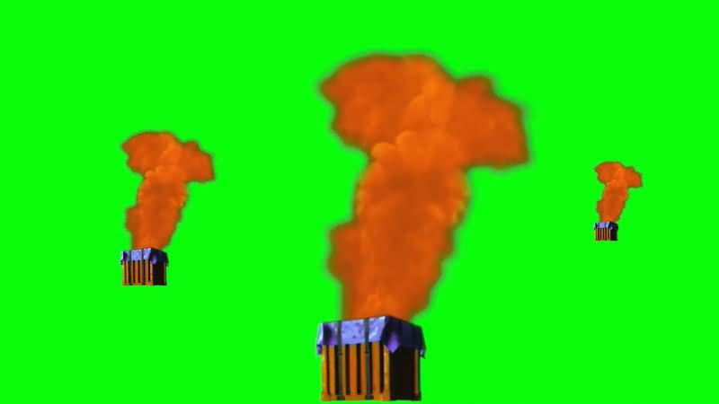 绿屏抠像吃鸡游戏补给箱视频素材