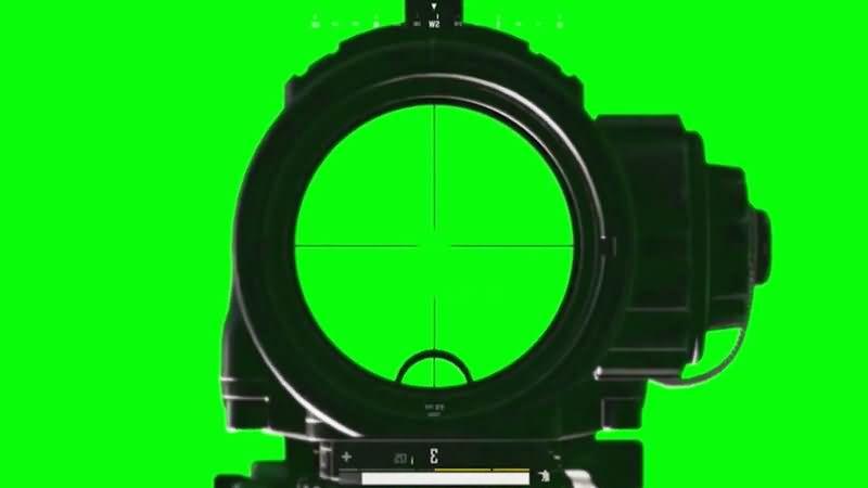 绿屏抠像吃鸡游戏瞄准镜视频素材