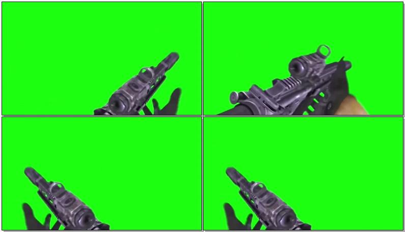 绿屏抠像吃鸡游戏射击视频素材