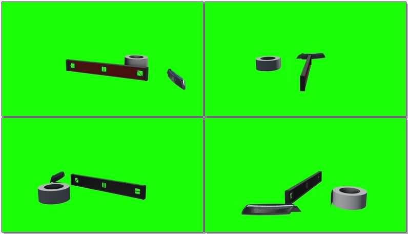 绿屏抠像施工工具视频素材