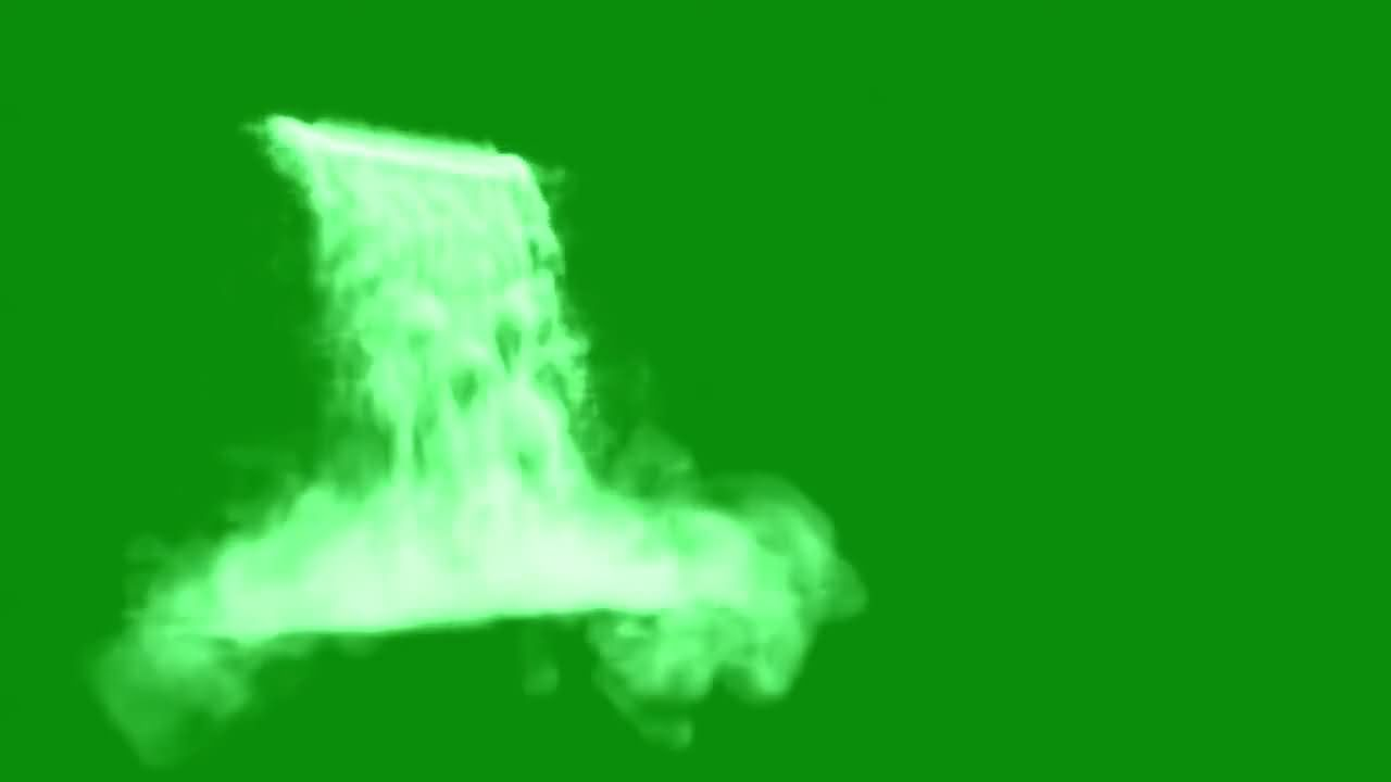 绿屏抠像大瀑布视频素材