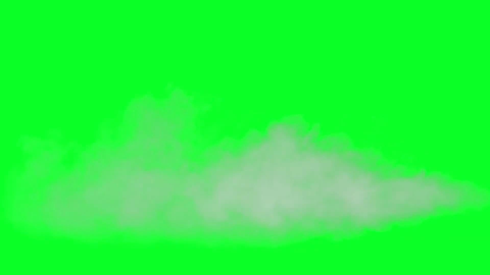 绿屏抠像舞台干冰烟雾视频素材