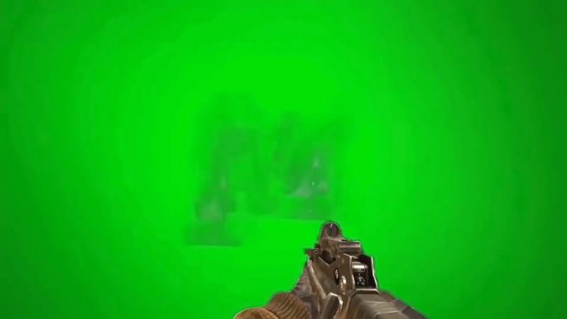绿屏抠像吃鸡游戏开枪射击视频素材