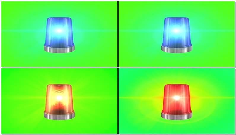 绿屏抠像警灯视频素材