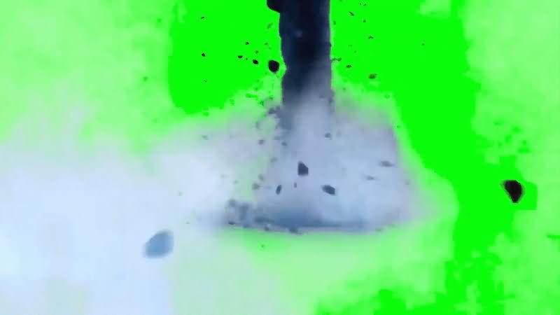 绿屏抠像龙卷风视频素材