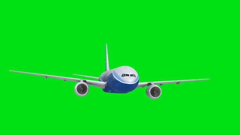绿屏抠像民航客机视频素材