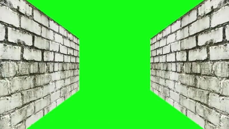 绿屏抠像狭窄的墙壁视频素材