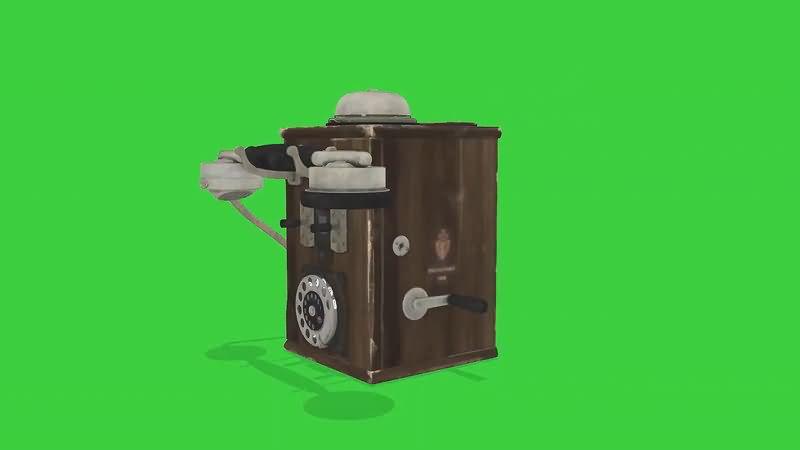 绿屏抠像老式电话机视频素材