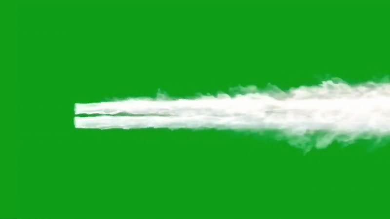 绿屏抠像两条喷射的水柱视频素材