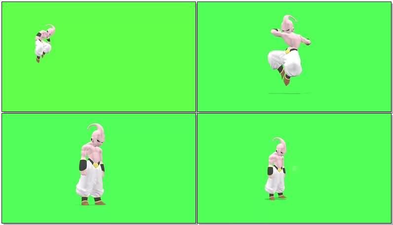 绿屏抠像魔人布欧视频素材