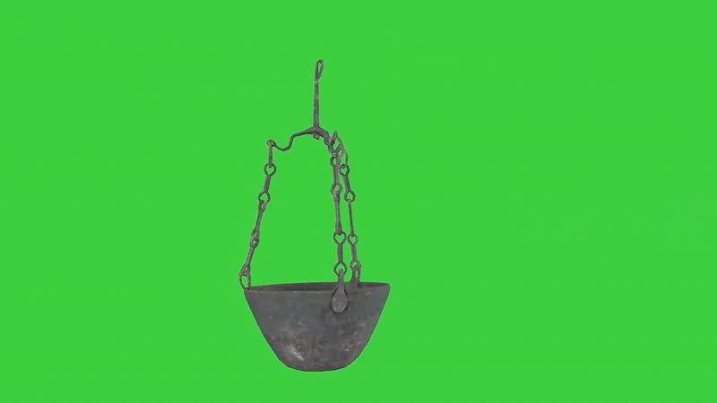 绿屏抠像炭火盆视频素材