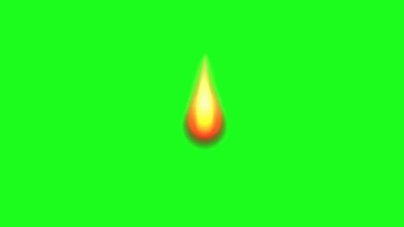 绿屏抠像燃烧的小火苗视频素材