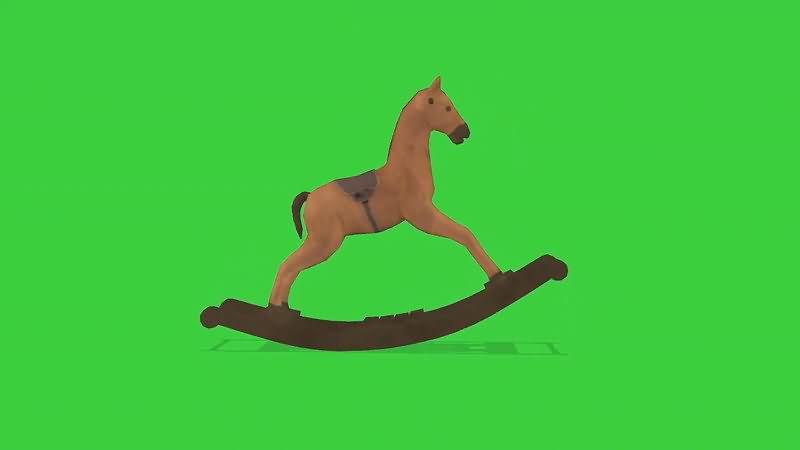 绿屏抠像摇摇马视频素材