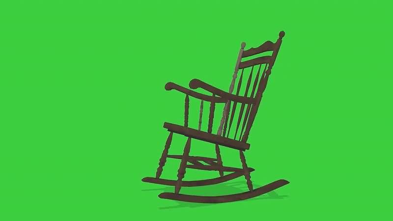 绿屏抠像摇椅视频素材