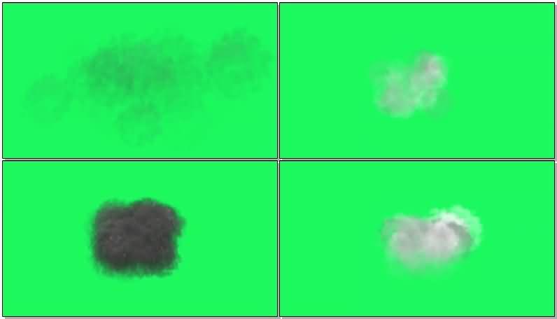 绿屏抠像积雨云乌云闪电云视频素材