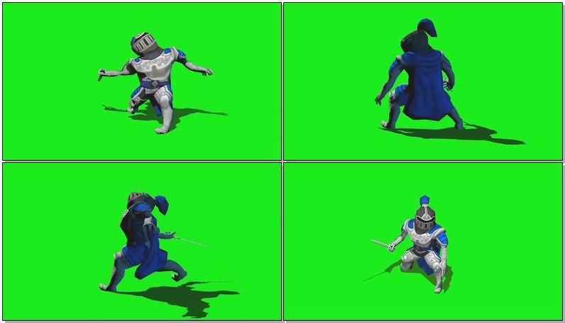 绿屏抠像战斗的骑士视频素材