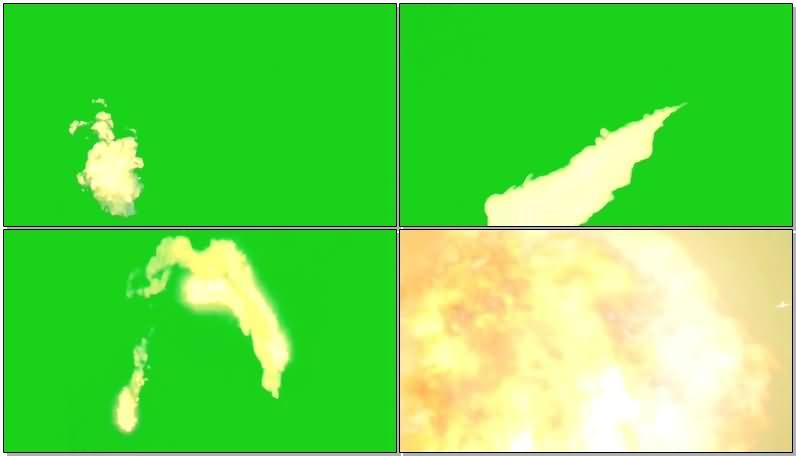 绿屏抠像喷射的火焰视频素材