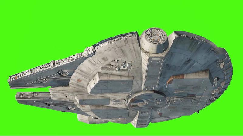 绿屏抠像大型宇宙飞船视频素材