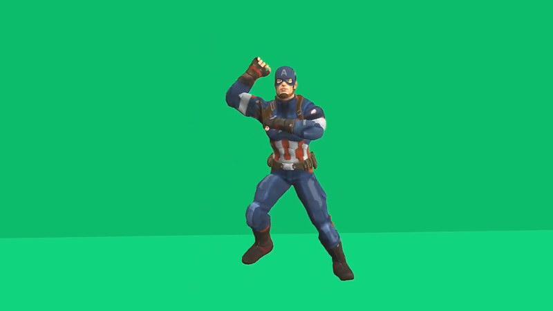绿屏抠像跳舞的美国队长视频素材