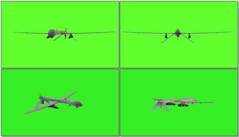 绿屏抠像无人机视频素材
