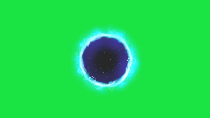 绿屏抠像宇宙黑洞视频素材