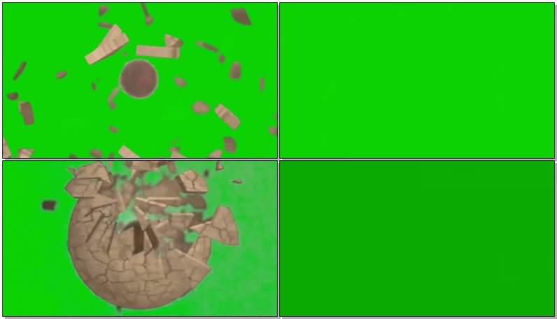 绿屏抠像地球爆炸视频素材