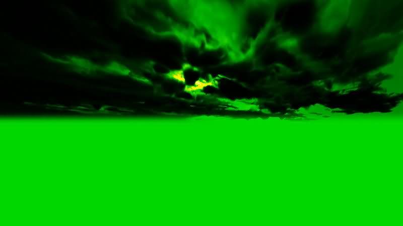 [4K]绿屏抠像乌云雷电视频素材