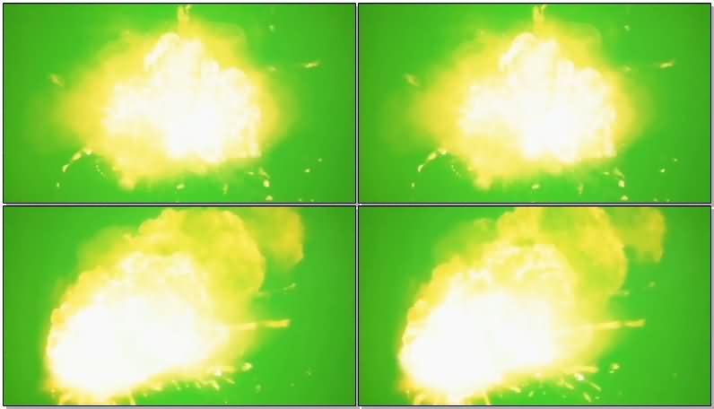 绿屏抠像慢动作爆炸视频素材