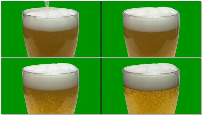 绿屏抠像啤酒扎啤视频素材