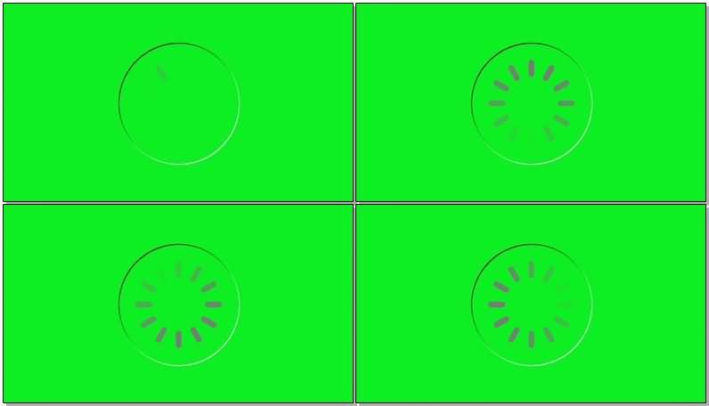 绿屏抠像圆形加载进度条视频素材