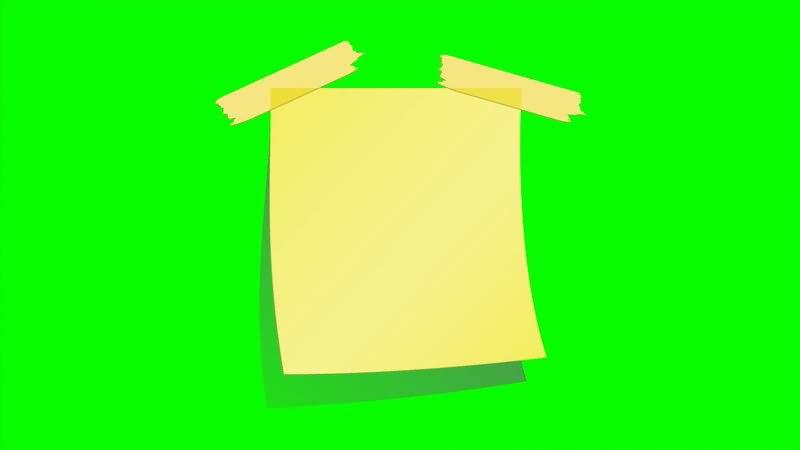绿屏抠像便利贴视频素材