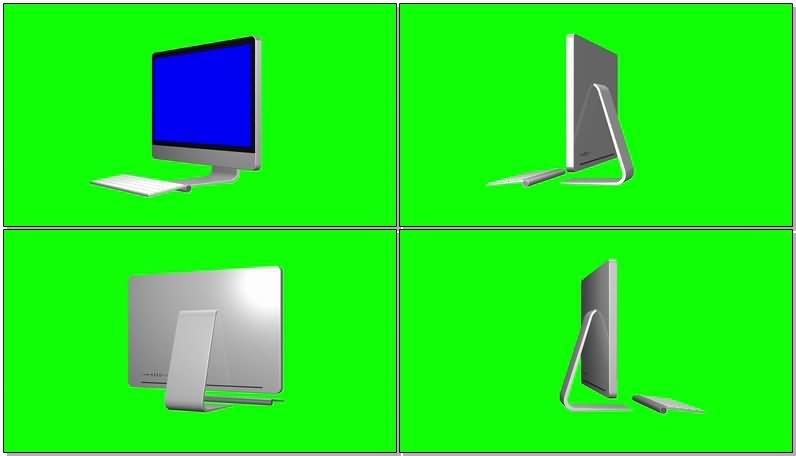 绿屏抠像iMac苹果电脑视频素材