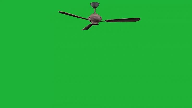 绿屏抠像旋转的吊扇视频素材