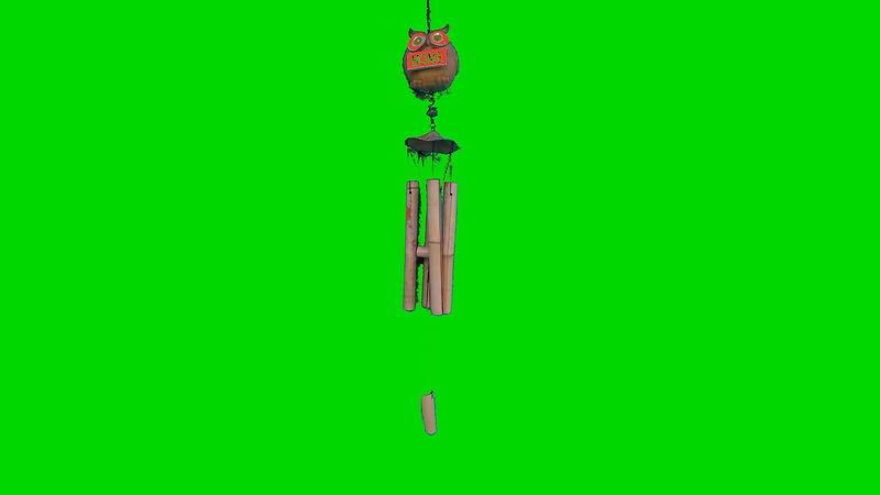 绿屏抠像风铃视频素材