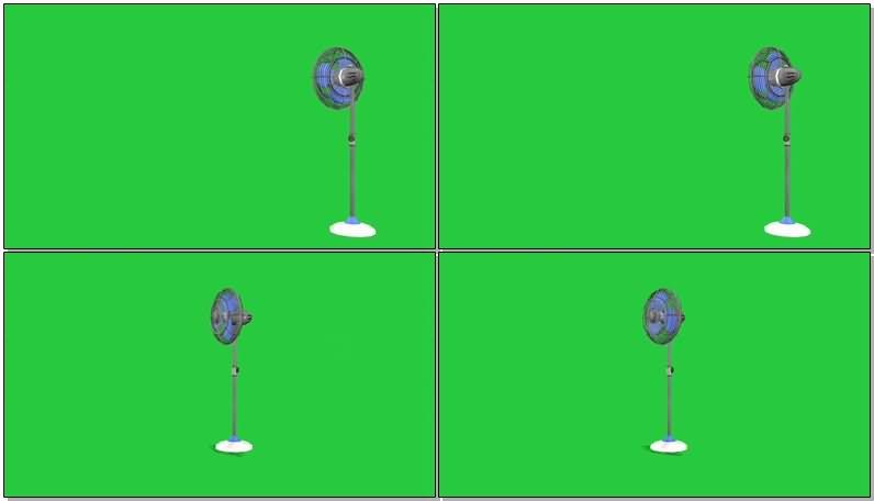 绿屏抠像落地电扇视频素材