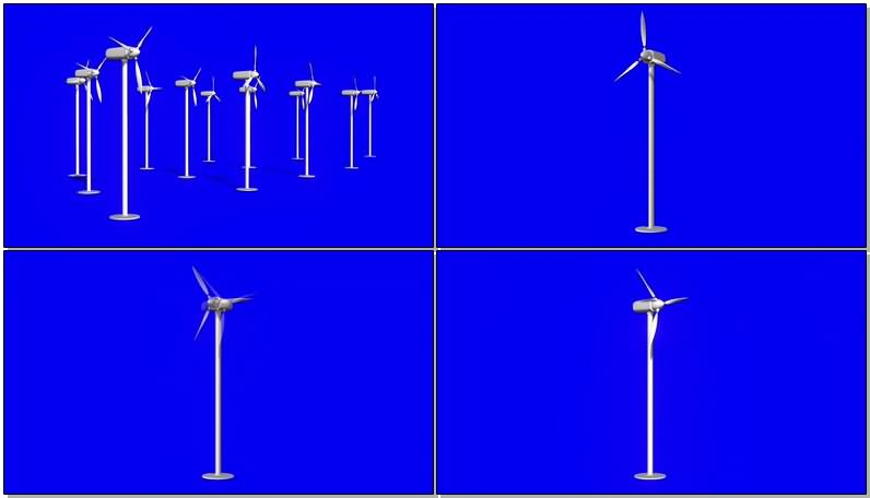 绿屏抠像风力发电机视频素材